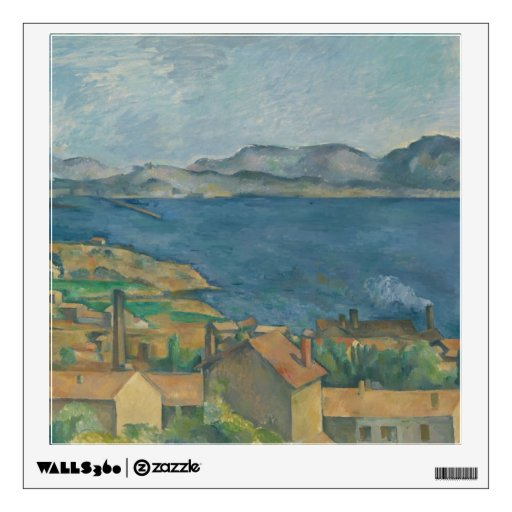 Paul Cézanne - The Bay of Marseilles Room Sticker