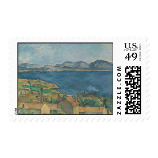 Paul Cézanne - The Bay of Marseilles Stamp
