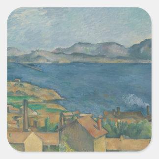Paul Cézanne - The Bay of Marseilles Square Sticker