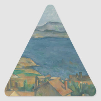 Paul Cézanne - The Bay of Marseilles Triangle Sticker