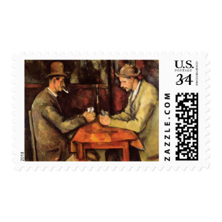 PAUL CEZANNE - The card players 1894 Postage