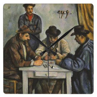 Paul Cézanne - The Card Players Square Wallclocks