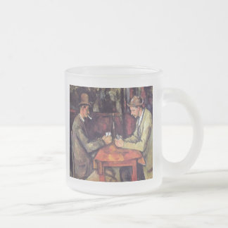 Paul Cezanne - The Card Players Fine Art Painting Frosted Glass Coffee Mug