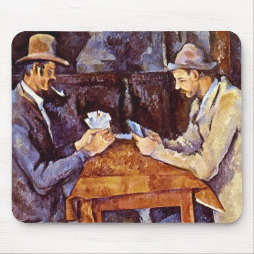 Paul Cezanne - The Card Players Mouse Pad