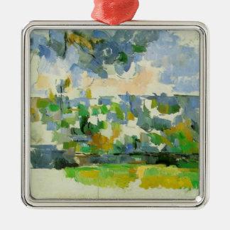 Paul Cezanne- The Garden at Les Lauves Christmas Ornament