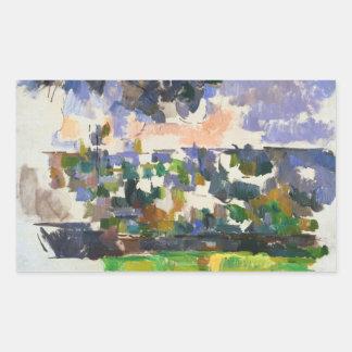 Paul Cezanne - The Garden at Les Lauves Rectangular Sticker