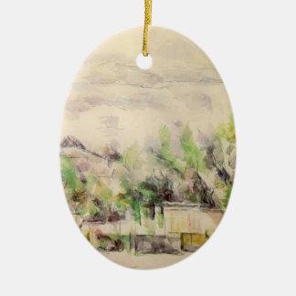 Paul Cezanne- The Garden Terrace at Les Lauves Christmas Ornaments
