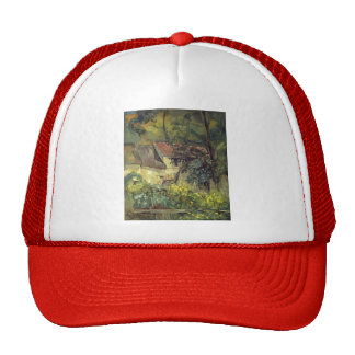 Paul Cezanne- The House of Pere Lacroix in Auvers Trucker Hat