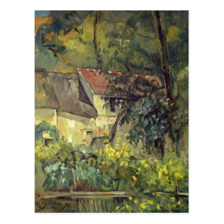 Paul Cezanne- The House of Pere Lacroix in Auvers Postcard