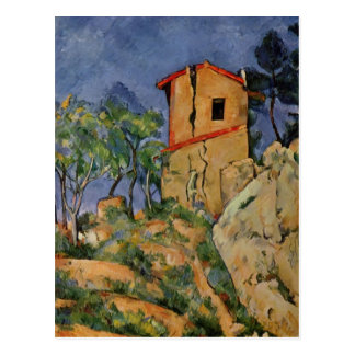 Paul Cezanne- The House with the Cracked Walls Postcard