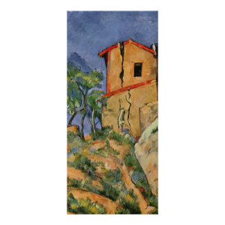 Paul Cezanne- The House with the Cracked Walls Rack Card Template