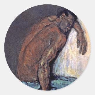 Paul Cezanne - The Negro Scipio Fine Art Painting Classic Round Sticker