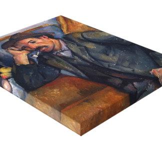Paul Cezanne- The Smoker Canvas Print