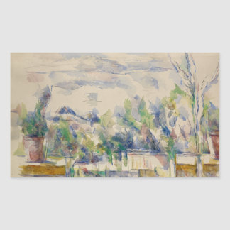 Paul Cezanne - The Terrace at the Garden Rectangular Sticker