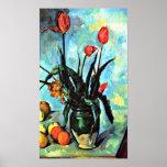 Paul Cezanne - todavía florero de la vida con los  Poster