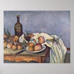 Paul Cezanne - todavía vida con la botella y las c Impresiones