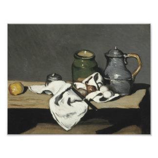 Paul Cezanne - todavía vida con la caldera Cojinete