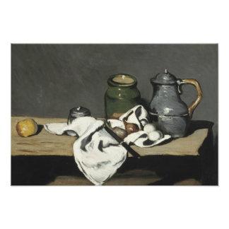 Paul Cezanne - todavía vida con la caldera Fotografías