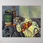 Paul Cezanne - todavía vida con las manzanas Posters