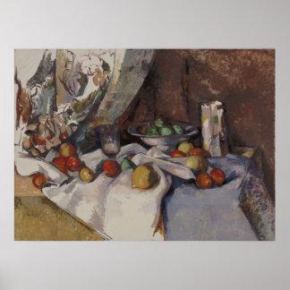Paul Cézanne - todavía vida con las manzanas Posters