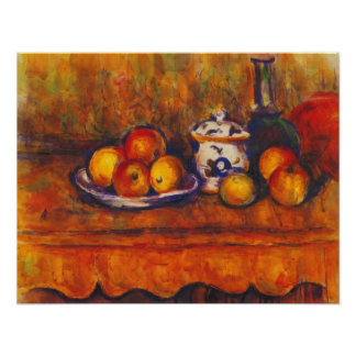 Paul Cezanne - todavía vida con las manzanas Impresiones