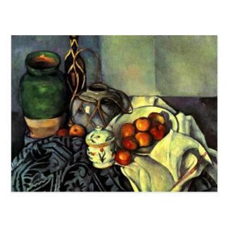 Paul Cezanne - todavía vida con las manzanas Postal