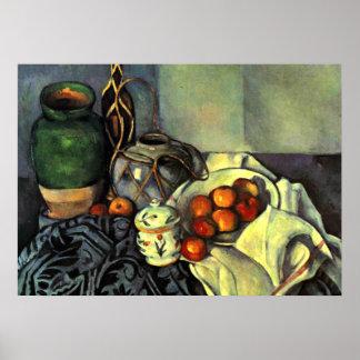 Paul Cezanne - todavía vida con las manzanas Póster