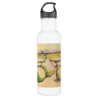 Paul Cezanne - todavía vida con las peras Botella De Agua De Acero Inoxidable