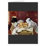 Paul Cezanne - todavía vida Tarjeta