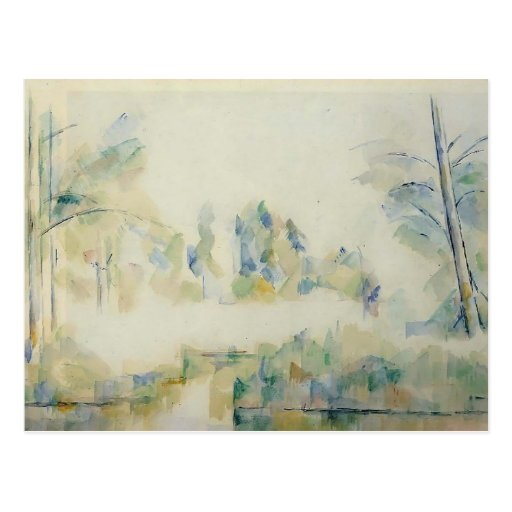 Paul Cezanne- Trees by the Water Postcards