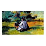 Paul Cezanne un pintor en el arte del impresionist Tarjeta De Visita