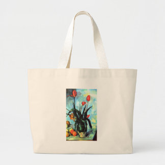 Paul Cezanne - Vase of Tulips Canvas Bags
