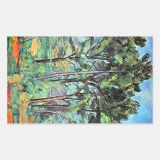 Paul Cezanne - Viaduct Rectangular Sticker