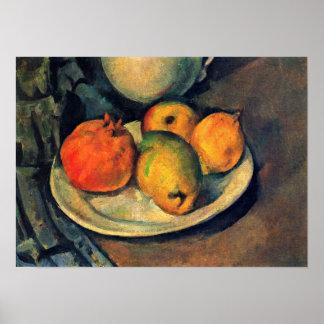 Paul Cezanne - vida de la granada y todavía de las Poster