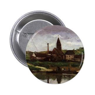 Paul Cezanne- View of Bonnieres Buttons