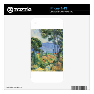Paul Cezanne - View of L'Estaque and Chateaux d'If Decals For The iPhone 4