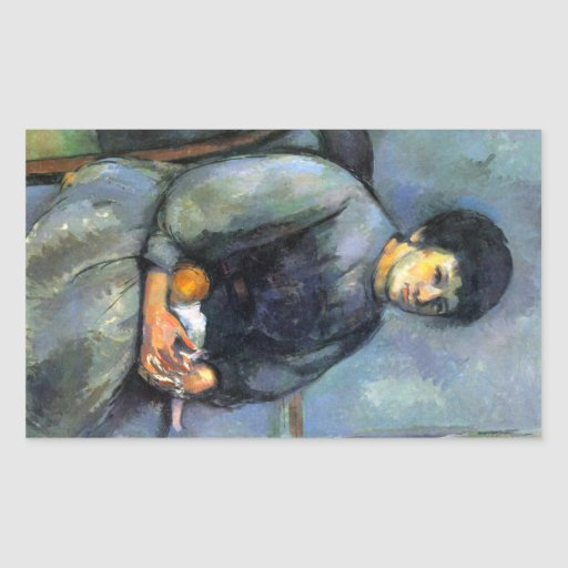 Paul Cezanne - Woman with Doll Stickers