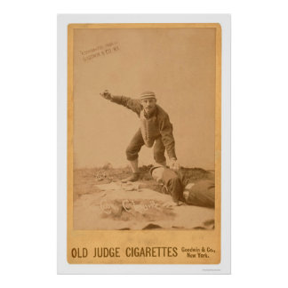 Paul Cook Baseball Card 1889 Poster