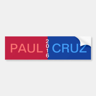 PAUL CRUZ 2016 Bumper Sticker Car Bumper Sticker