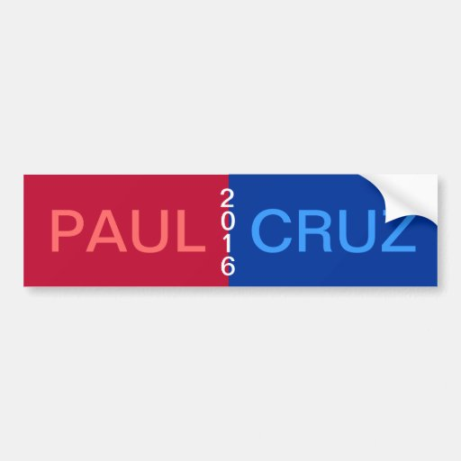 PAUL CRUZ 2016 Bumper Sticker Car Bumper Sticker