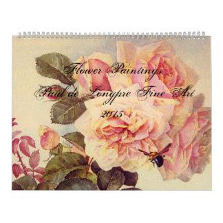 Paul de Longpre Fine Art Flowers Calendar