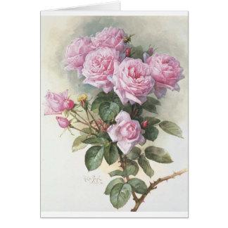 Paul_de_Longpré_-_Roses_and_Bumblebees,_1899 Greeting Cards