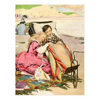 Paul Dombey y Florencia en la playa en Brighton Tarjetas Postales
