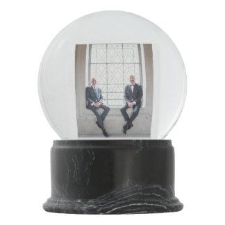 Paul + Don's Wedding Snowglobe