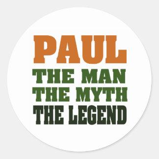 PAUL - el hombre, el mito, la leyenda Pegatinas Redondas