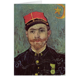Paul-Eugene Milliet By Vincent Van Gogh Greeting Card