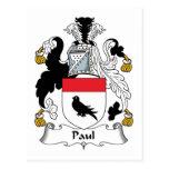 Paul Family Crest Postcard
