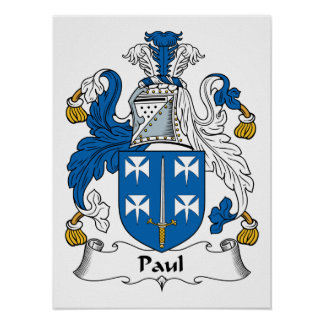 Paul Family Crest Posters