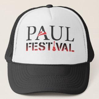 Paul Festival Black & White Trucker Hat