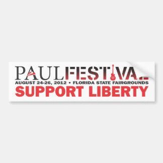Paul Festival Bumper Sticker Car Bumper Sticker